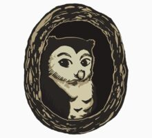 Owl in a Tree Illustration Art Kids Clothes