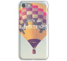 let's go adventuring, hot air balloon iPhone Case/Skin