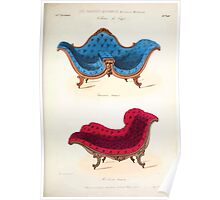 Le Garde Meuble Desire Guilmard 1839 0067 High Style Seat Furniture Interior Design Poster
