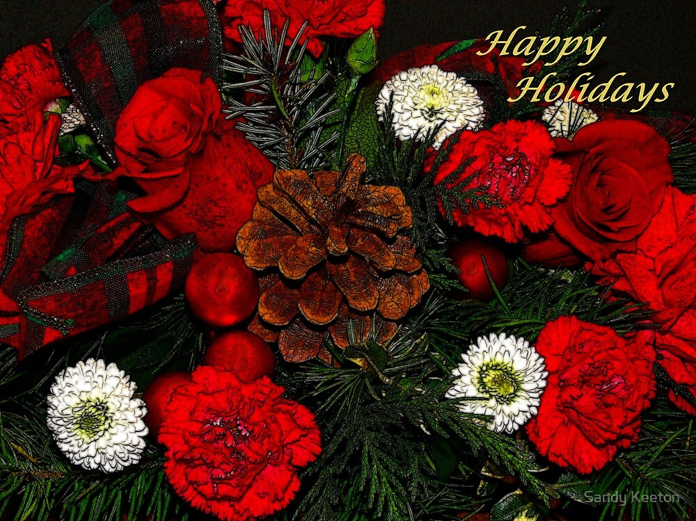 Christmas Flowers by Sandy Keeton