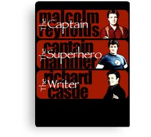 The Captain, The Superhero, and The Writer Canvas Print