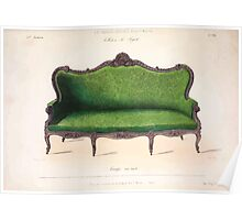 Le Garde Meuble Desire Guilmard 1839 0027 High Style Seat Furniture Interior Design Poster