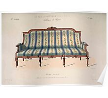 Le Garde Meuble Desire Guilmard 1839 0117 High Style Seat Furniture Interior Design Poster
