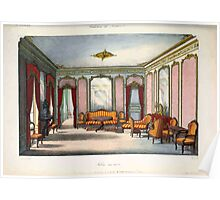 Le Garde Meuble Desire Guilmard 1839 0021 High Style Bed and Window Hanging Interior Design Poster