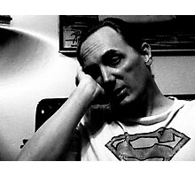 Sleepy Superman Photographic Print