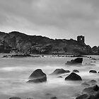 Black & white of Kinbane head, N.Ireland. by Fred Taylor