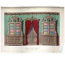 Le Garde Meuble Desire Guilmard 1839 0187 High Style Bed and Window Hanging Interior Design Poster