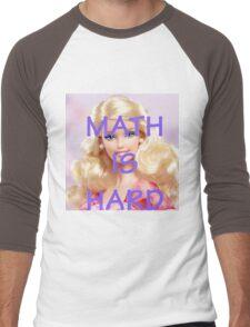 Math Is Hard-- Doll Men's Baseball ¾ T-Shirt
