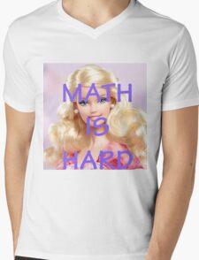Math Is Hard-- Doll Mens V-Neck T-Shirt