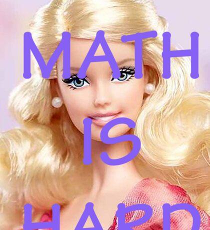 Math Is Hard-- Doll Sticker