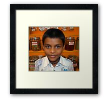 Spice Boy Framed Print