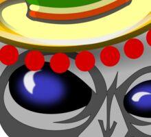 Mexican Alien Sombrero Sticker