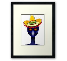 Mexican Alien Sombrero Framed Print