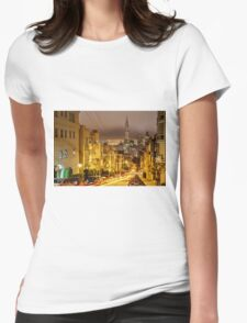 Night View from Knob Hill - San Francisco Womens Fitted T-Shirt