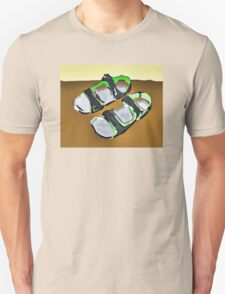 grey and green sandals Unisex T-Shirt