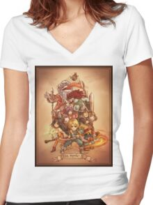 FFIX - Tribute Women's Fitted V-Neck T-Shirt