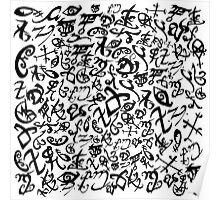 Shadowhunter Runes Poster