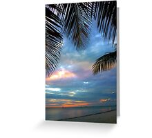 Palm Courtains Greeting Card