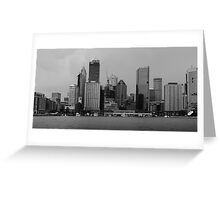 City By The Sea Greeting Card