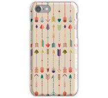 Vintage Arrow Pattern with Beige Background iPhone Case/Skin