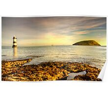 Morning Glow At Penmon Lighthouse. Poster