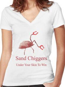 Sand Chigger Women's Fitted V-Neck T-Shirt