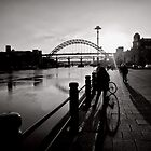 Shadow arches of the Mighty Tyne by clickinhistory