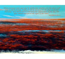 Matthew 15 2-3 Photographic Print