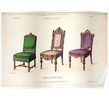Le Garde Meuble Desire Guilmard 1839 0265 High Style Seat Furniture Interior Design Poster