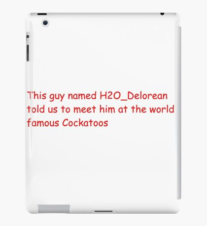 Cockatoos H2OVanoss iPad Case/Skin