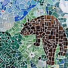 Bear, Detail from a Mosaic by Jeffrey DeVore