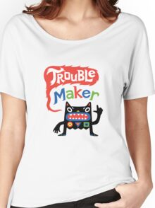 Trouble Maker V - black monster Women's Relaxed Fit T-Shirt