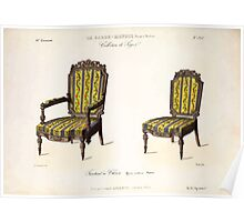 Le Garde Meuble Desire Guilmard 1839 0211 High Style Seat Furniture Interior Design Poster
