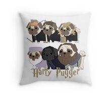 Harry Pugger Throw Pillow