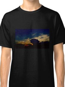 Pink Angel Soaring in this Amazing Sunset Classic T-Shirt
