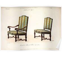 Le Garde Meuble Desire Guilmard 1839 0173 High Style Seat Furniture Interior Design Poster