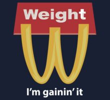 McDonalds Funny Weight I'm Gainin' It Kids Tee