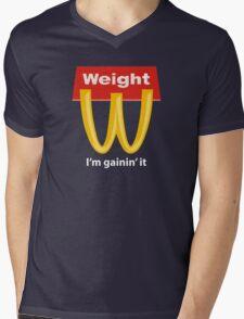 McDonalds Funny Weight I'm Gainin' It Mens V-Neck T-Shirt