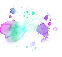 WATERCOLOUR SPLATTER DESIGN 2 by daniellacurcio