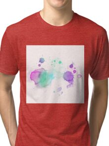 WATERCOLOUR SPLATTER DESIGN 2 Tri-blend T-Shirt