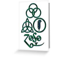 TRIQUETRA - the waves L Greeting Card
