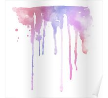 WATERCOLOUR SPLATTER DESIGN 4 Poster
