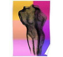 Body Art 2 in Black Poster