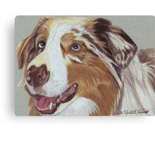 Australian Shepherd Vignette Canvas Print