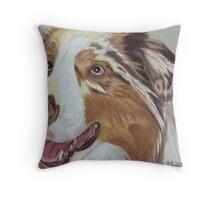 Australian Shepherd Vignette Throw Pillow