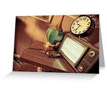Time In Retro Greeting Card