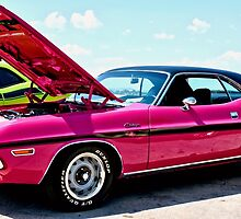 Bubblegum Pink Classic Dodge Challenger by Amy McDaniel