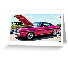 Bubblegum Pink Classic Dodge Challenger Greeting Card