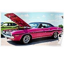 Bubblegum Pink Classic Dodge Challenger Poster