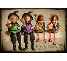 Tell Us A Happy Halloween Story! Photographic Print